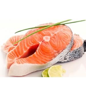 Salmon fresco en rodajas for Protein in fish